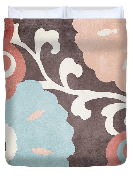 Umbrella Skies II Suzani Pattern Duvet Cover