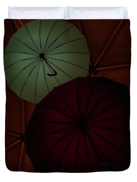 Umbrellas Duvet Cover