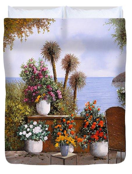 Un Caffe Davanti Al Lago Duvet Cover