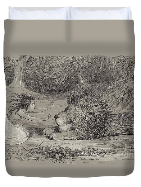 Una And The Lion  Duvet Cover