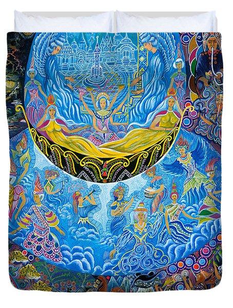 Unai Shipash  Duvet Cover by Pablo Amaringo
