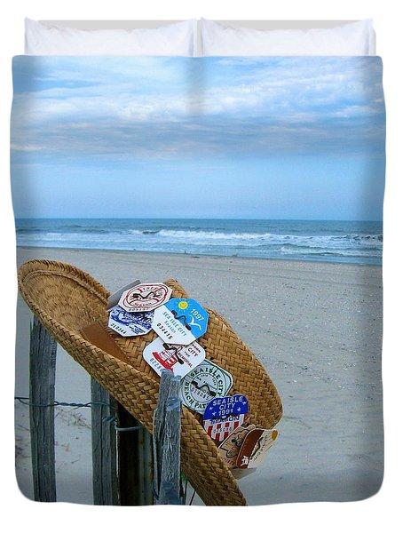 Uncle Carl's Beach Hat Duvet Cover