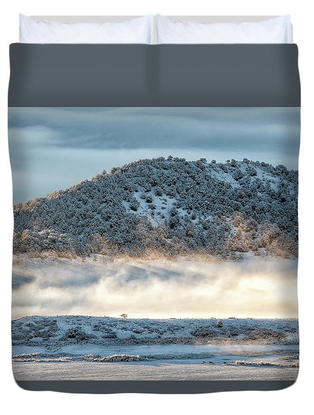 Uncompaghre Valley Fog Duvet Cover
