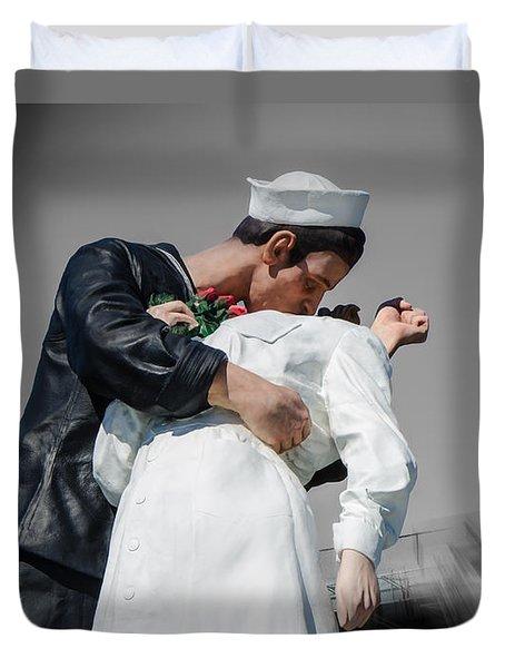 Unconditional Surrender 1 Duvet Cover by Susan  McMenamin