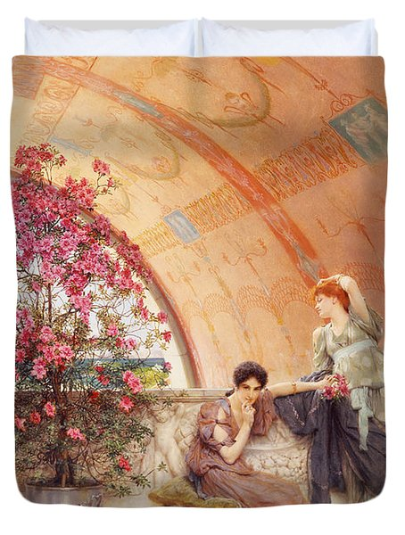 Unconscious Rivals Duvet Cover by Sir Lawrence Alma Tadema