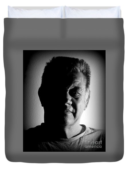 Duvet Cover featuring the photograph Undecided by Myrna Bradshaw