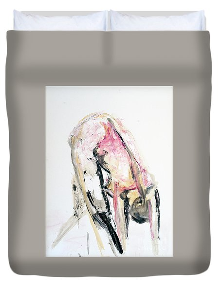 Under 140002 Duvet Cover by AnneKarin Glass