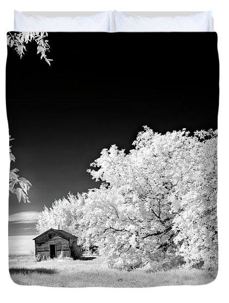 Duvet Cover featuring the photograph Under A Dark Sky by Dan Jurak