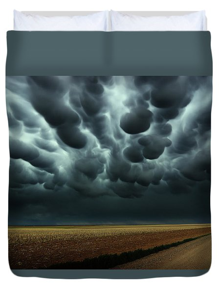 Under A Mammatus Sky Duvet Cover
