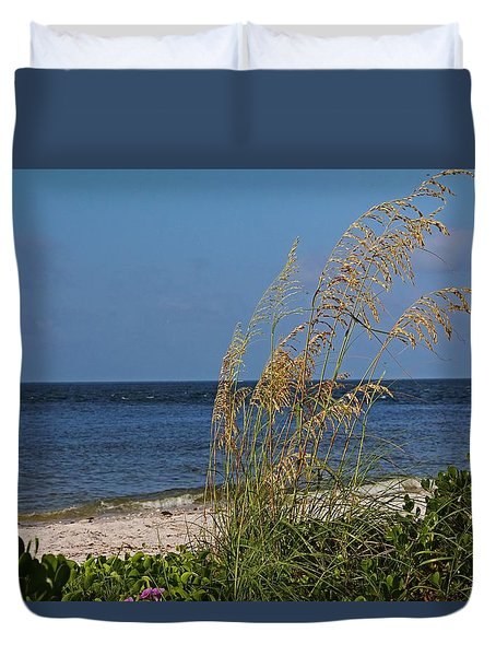 Duvet Cover featuring the photograph Under A Summer Sky by Michiale Schneider