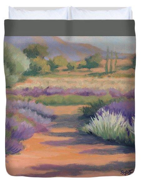 Under A Summer Sun In Lavender Fields Duvet Cover