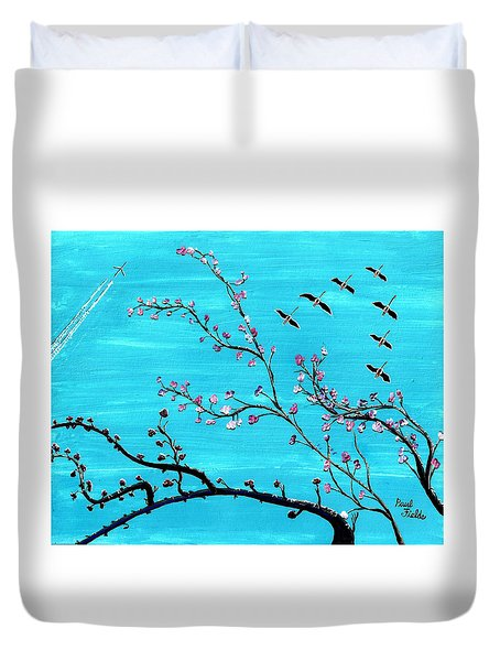Under A Tree Duvet Cover