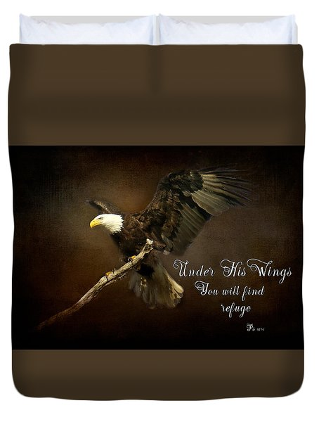 Under His Wings Duvet Cover by Eleanor Abramson