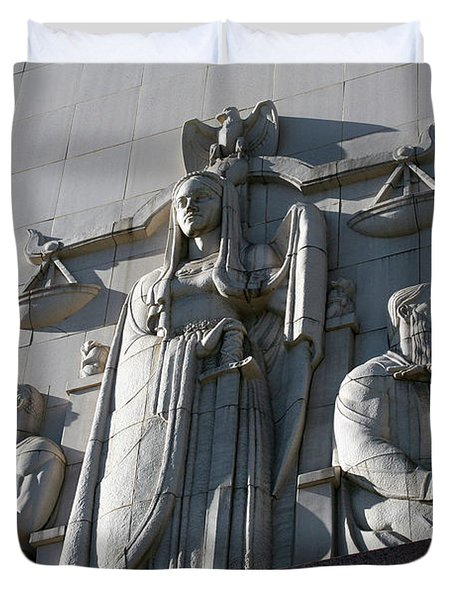 Under Scales Of Justice Duvet Cover