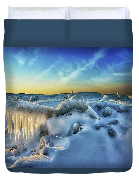 Under Siege  Duvet Cover by Kathi Mirto