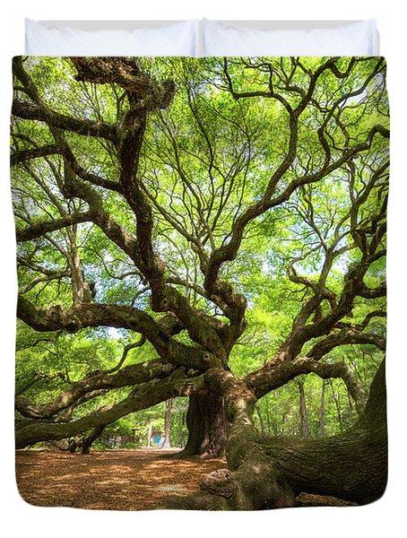 Under The Angel Oak Tree Duvet Cover
