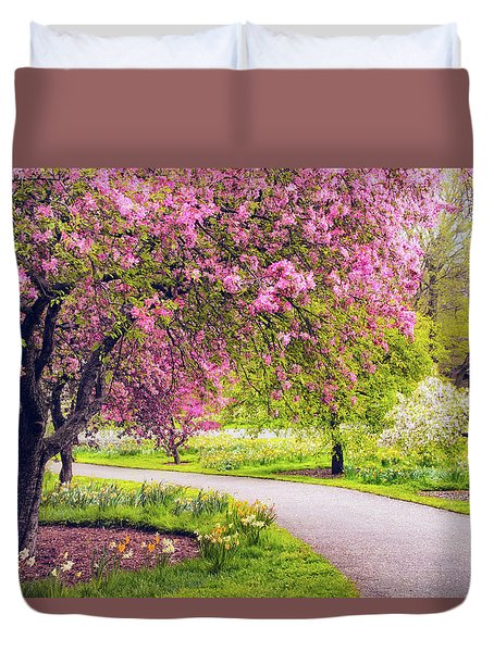 Under The Apple Tree Duvet Cover by Jessica Jenney