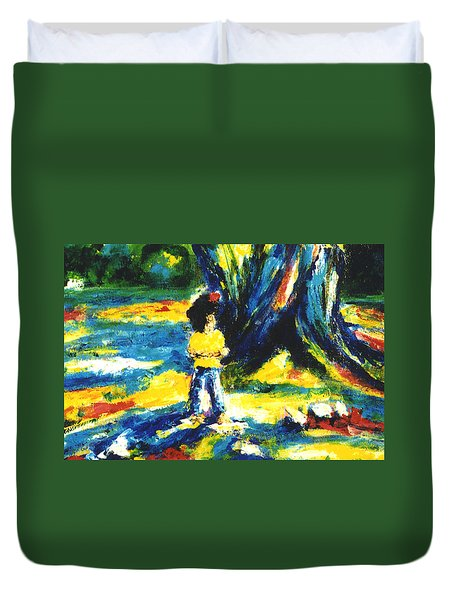 Under The Banyan Tree#201 Duvet Cover by Donald k Hall