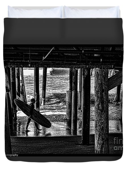 Under The Boardwalk Duvet Cover by Tommy Anderson