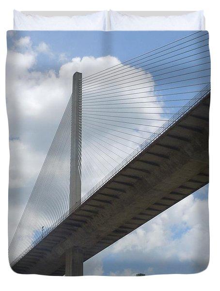 Under The Bridge Through Panama Duvet Cover
