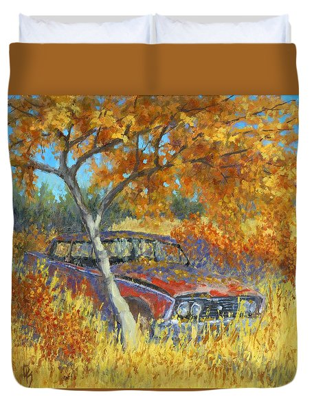 Under The Chinese Elm Tree Duvet Cover