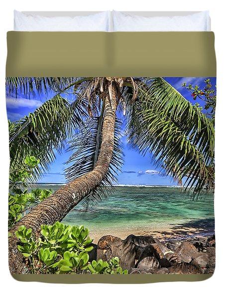 Under The Coconut Tree Duvet Cover