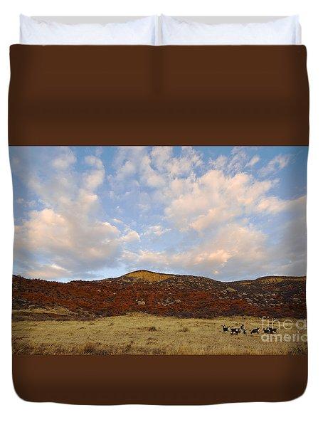 Under The Colorado Sky Duvet Cover