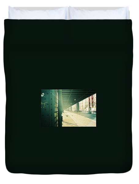 Under The Elevated Railway Duvet Cover