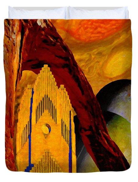 Under The Giants Eye Duvet Cover