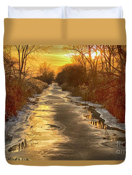 Under The Golden Sky Duvet Cover
