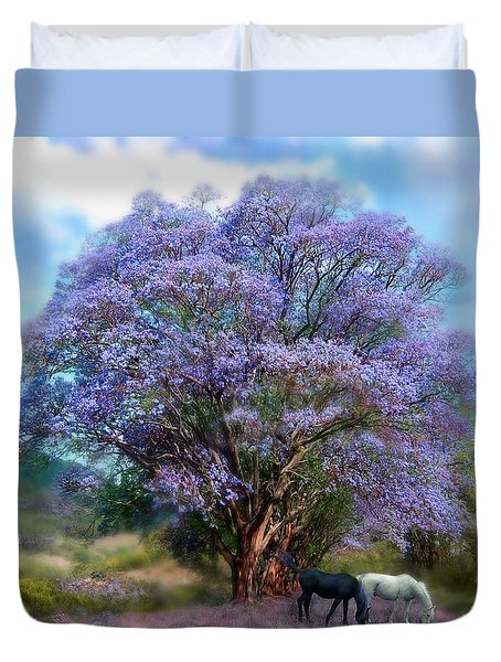 Under The Jacaranda Duvet Cover