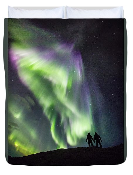 Under The Lights Duvet Cover