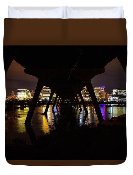 Under The Manchester Bridge Duvet Cover