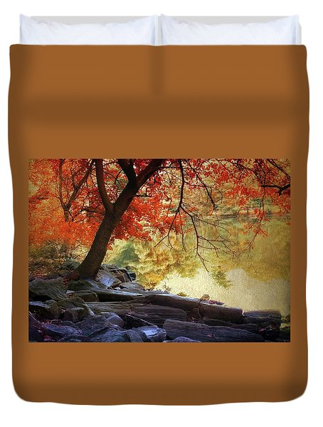 Under The Maple Duvet Cover by Jessica Jenney