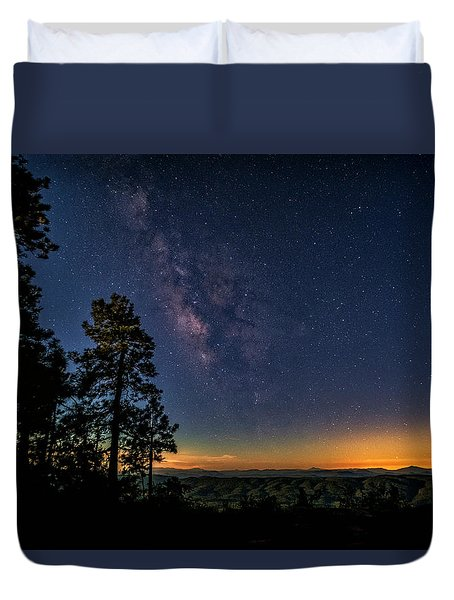 Duvet Cover featuring the photograph Under The Milky Way  by Saija Lehtonen