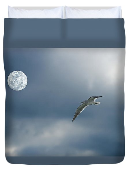 Under The Moon Duvet Cover