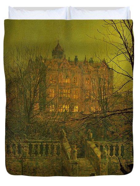 Under The Moonbeams, 1882 Duvet Cover