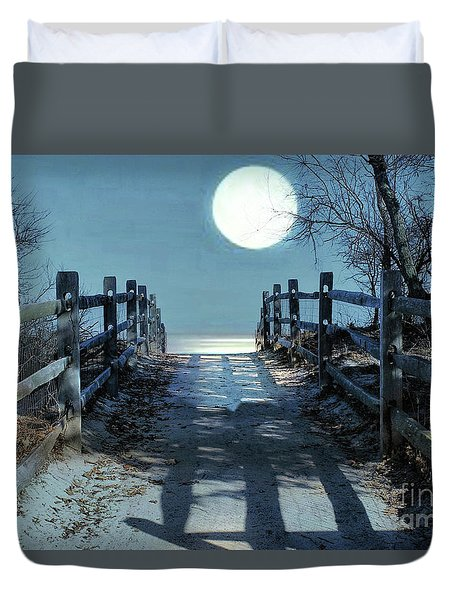 Under The Moonbeams Duvet Cover
