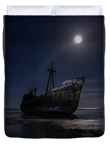 Under The Moonlight Duvet Cover