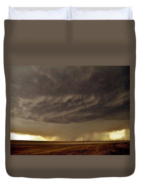 Duvet Cover featuring the photograph Under The Mothership by Ed Sweeney