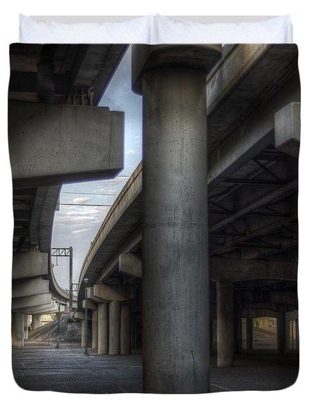 Under The Overpass I Duvet Cover