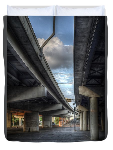 Under The Overpass II Duvet Cover