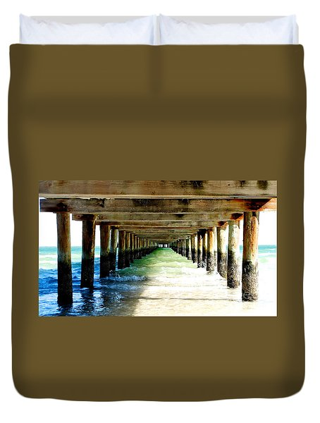 Anna Maria Island Pier Excellence In Photography Award 2016 Duvet Cover by Margie Amberge