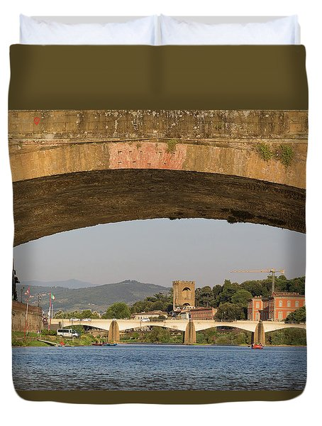 Under The Ponte Santa Trinita Duvet Cover