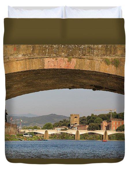 Under The Ponte Santa Trinita Duvet Cover