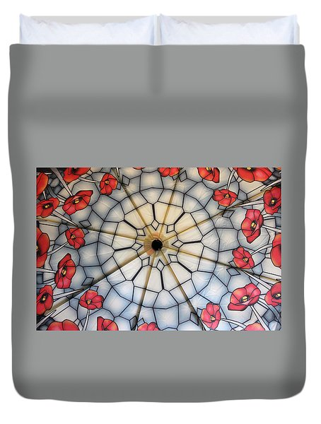 Under The Poppies Duvet Cover by Jewels Blake Hamrick