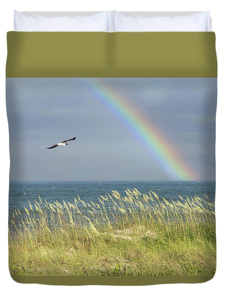 Under The Rainbow Duvet Cover