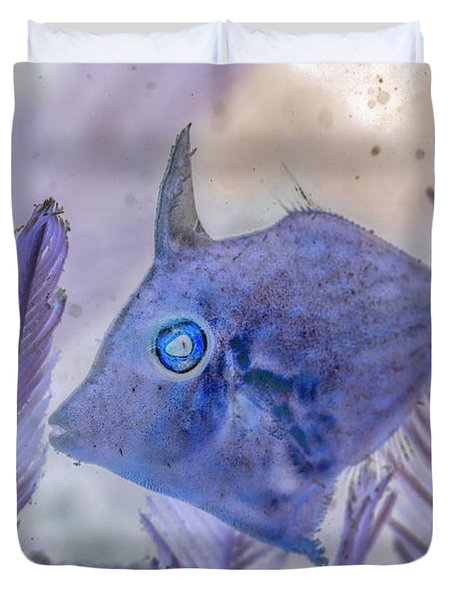 Duvet Cover featuring the photograph Under The Sea Colorful Watercolor Art #8 by Debra and Dave Vanderlaan