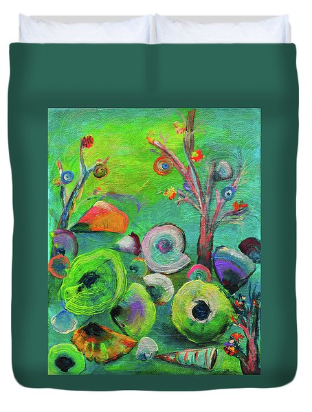 under the sea  - Orig painting for sale Duvet Cover