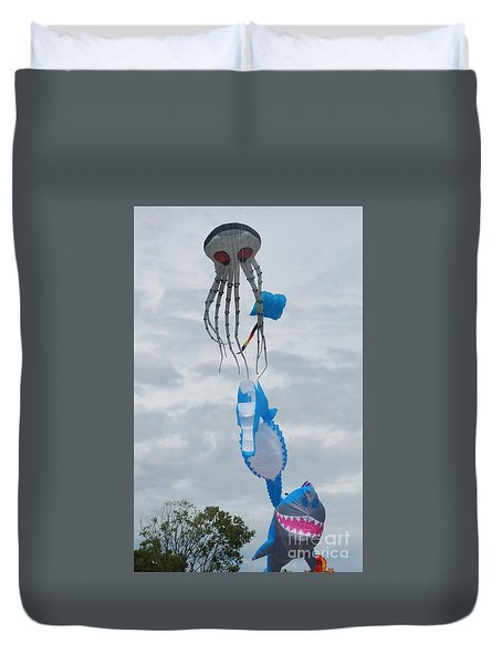 Under The Sea Kites 2 Duvet Cover